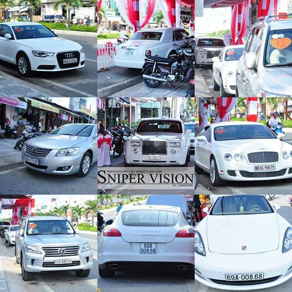 Hình ảnh tổng hợp những chiếc xe sang tham gia đám cưới tại Cà Mau.