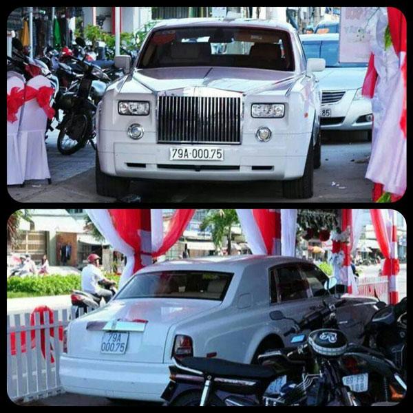 Rolls-Royce Phantom đeo biển số Khánh Hòa (Ảnh: Facebook/Xe Miền Trung).