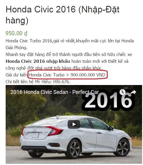 Một sale ở Honda Giải Phóng quả quyết giá xe không thể thấp hơn 900 triệu.