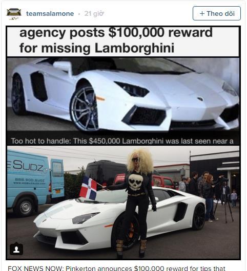Đây không phải là vụ mất trộm đầu tiên liên quan đến siêu xe Lamborghini Aventador. Vào tháng 11 năm ngoái, công ty thám tử tư Pinkerton đã treo thưởng 100.000 USD cho bất kỳ ai cung cấp thông tin về chiếc Lamborghini Aventador mui trần màu trắng đời 2015 bị đánh cắp. Được biết, lần cuối cùng người ta nhìn thấy chiếc Lamborghini Aventador LP700-4 Roadster đắt tiền là ở cuối ngã tư Fowler Road và College Point Boulevard thuộc khu Flushing, New York, vào ngày 28/10 trước khi biệt tăm.