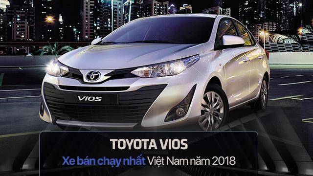 10 xe bán chạy nhất năm 2018 tại Việt Nam