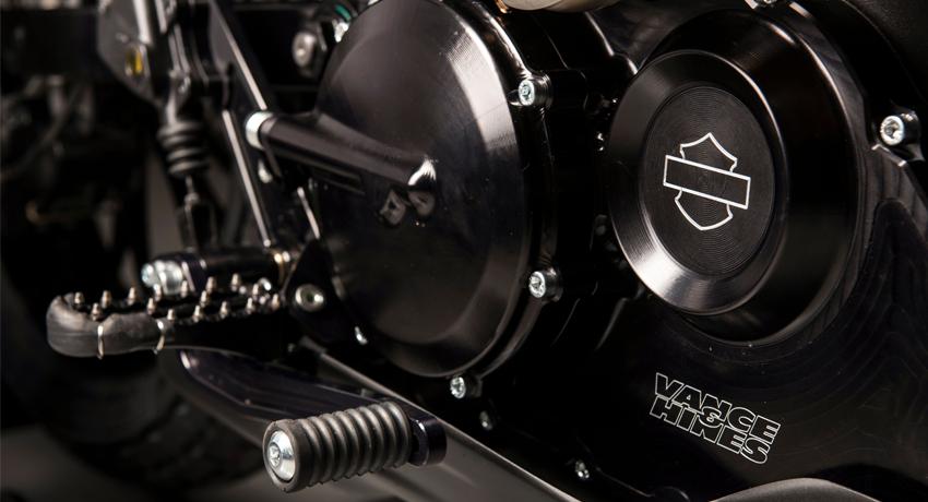 Trên thực tế, đây là động cơ được thiết kế cho Harley-Davidson Street 750, mẫu mô tô vốn sinh ra để chạy trên đường phố và thuộc dòng Dark Custom. Tuy nhiên, động cơ trên Harley-Davidson XG750R đã được hãng Vance & Hines Motorsports cải tiến để phù hợp với đường đua.