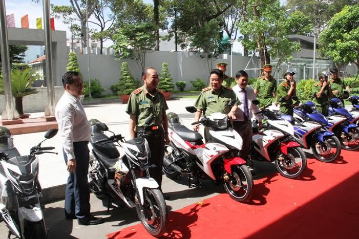 Dàn xe đặc chủng mới của công an Tp. Hồ Chí Minh. Ảnh: Vietnamnet