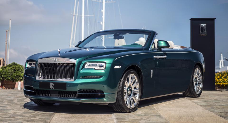 Rolls-Royce Dawn màu xanh ngọc lục bảo