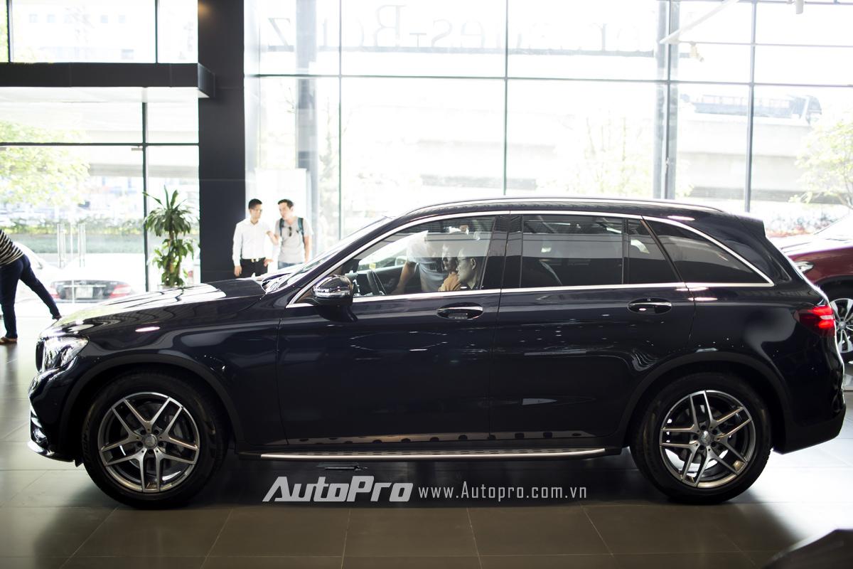 Mercedes-Ben GLC 300 có kích thước DxRxC tương ứng 4.656 x 1.890 x 1.639 mm cùng chiều dài cơ sở 2.873 mm.