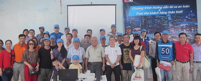 Kết thúc khoá học lái xe an toàn dành cho các khách hàng của Honda Việt Nam.