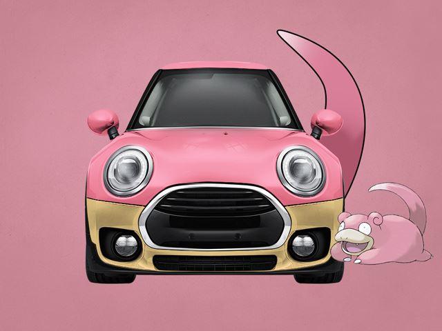 Mini Clubpok là sự pha trộn giữa Mini Clubman và Slowpok. Xe biến đổi thành màu hồng và thậm chí có cả... đuôi.