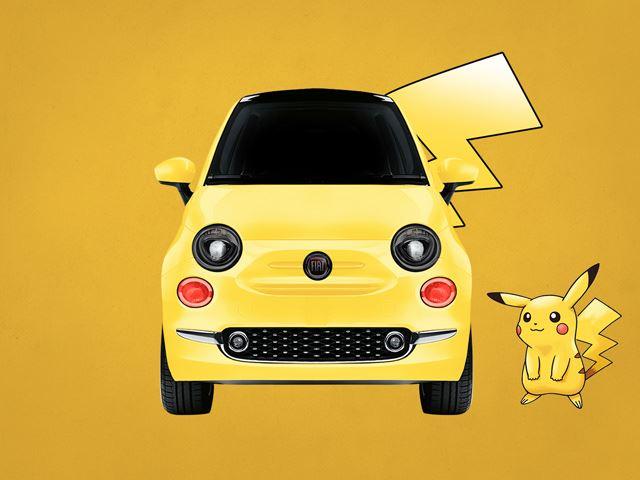 Cuối cùng là Fiat 500 Pikacento - sự kết hợp giữa Fiat 500 và Pikachu.