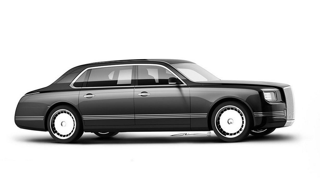 Hình ảnh trong tài liệu đăng ký bản quyền của chiếc sedan dành cho Tổng thống Nga.