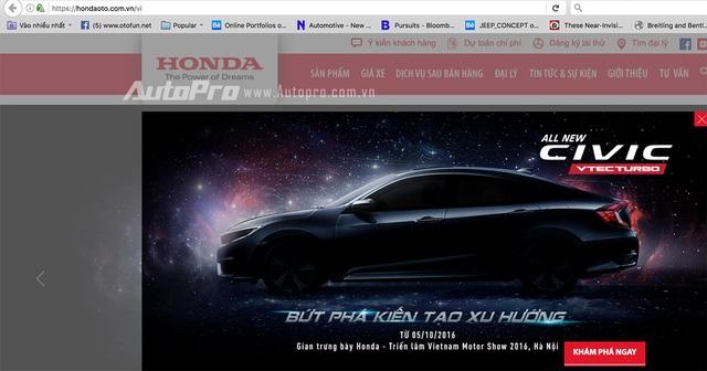 Thông số kỹ thuật xe Honda Civic 2016 chính thức