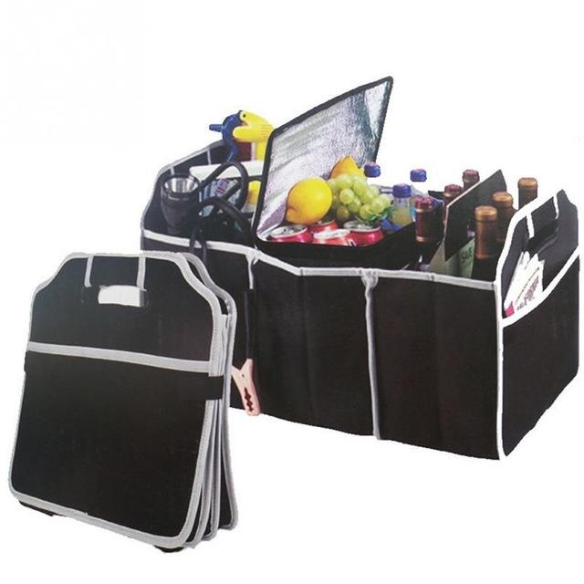 Mua túi di động có thể là phương pháp hiệu quả. Những túi gấp này có thể chứa được nhiều đồ đạc nhỏ và chia ngăn khiến chúng được phân tách một cách gọn gàng. Khi không dùng tới, người dùng có thể gấp gọn và cho vào ngăn để đồ phía trước, cốp phía sau,...