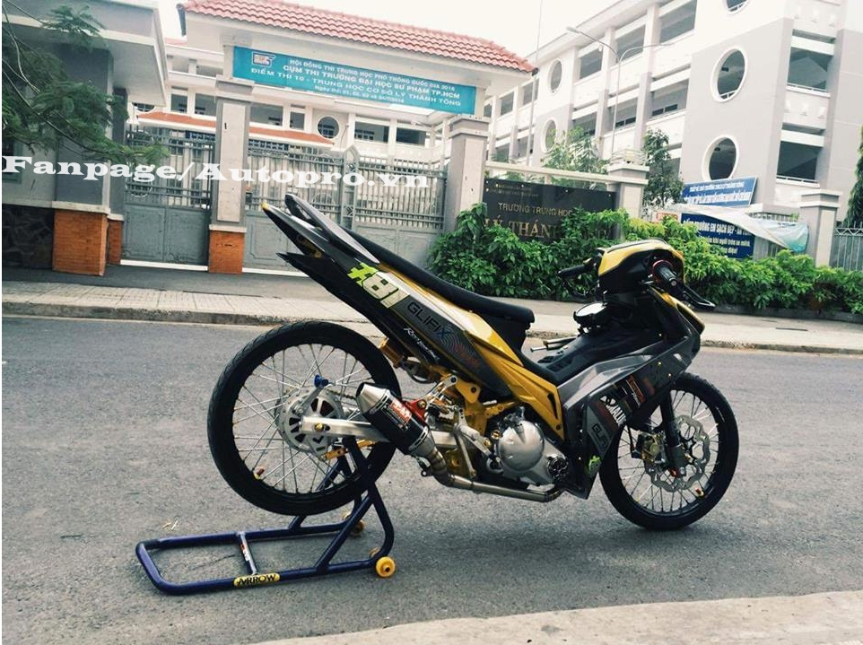 Ngắm Yamaha Exciter 135 độ hàng hiệu có trị giá 50 triệu của biker Gia Lai 3