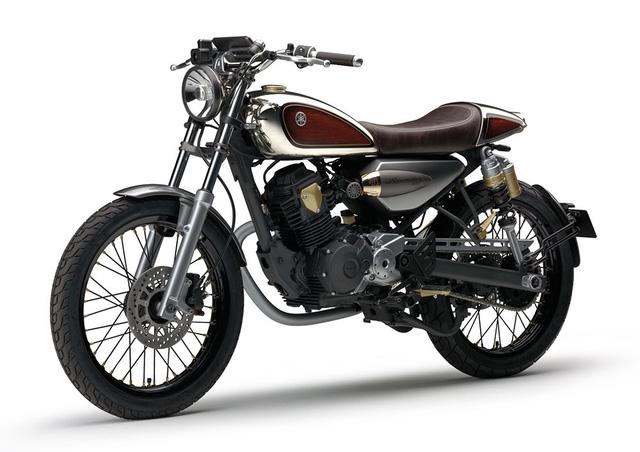 Yamaha Resonator125 có phong cách thiết kế như tiểu SR400.