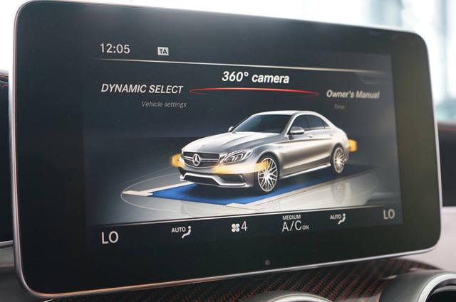 AMG C63 S Edition 1 được trang bị tính năng cao cấp ở nội thất như đèn viền nội thất 3 màu, hệ thống âm thanh vòm Burmester 13 loa công suất 590 watt, hệ thống AIR-BALANCE với chức năng tạo mùi hương, hệ thống dẫn đường & định vị GPS, hiển thị thông tin trên kính gió (Head-up Display), camera 360 độ, hay cửa sổ trời Panoramic.