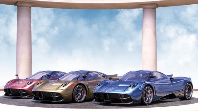 Mô hình của 3 chiếc Pagani Huayra Dinastia do hãng siêu xe đến từ Ý phác thảo.