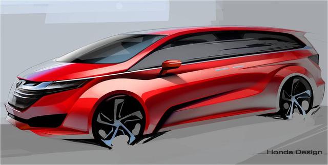 Hình phác họa về mẫu Minivan 7 chỗ mới trên trang web chính thức của Honda Việt Nam.