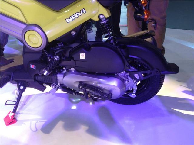 Trái tim của Navi là khối động cơ HET (Honda Eco Technology) xy-lanh đơn, dung tích 110 cc. Động cơ tạo ra công suất tối đa 7,83 mã lực tại vòng tua máy 7.000 vòng/phút và mô-men xoắn cực đại 8,96 Nm tại vòng tua máy 5.500 vòng/phút. Động cơ kết hợp với hộp số V-matic giúp Honda Navi đạt vận tốc tối đa 81 km/h.