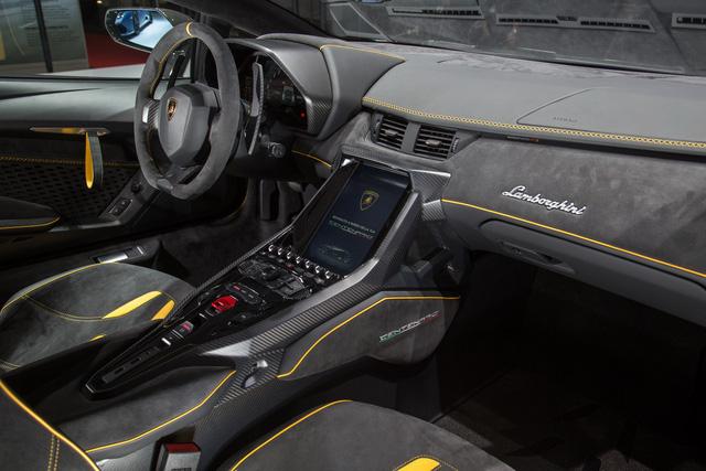 Nội thất của Lamborghini Centenario Coupe