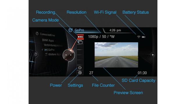Ứng dụng dành cho việc di chuyển trên đường: Người lái có thể tải về một ứng dụng cho phép phân tích tốc độ, thời gian, số, ga và góc lái của các vòng cua. Và một số khác được liên kết với GoPro thông qua smartphone, cho phép người lái có cái nhìn trực tiếp từ camera lên màn hình trung tâm của xe và thay đổi góc nhìn thông qua iDrive.