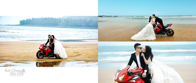 Được biết, chủ rể tên là Phan Thế Hùng, con trai của một đại gia trong ngành gỗ đồng thời là thành viên trong câu lạc bộ mô tô tại Hà Tĩnh.