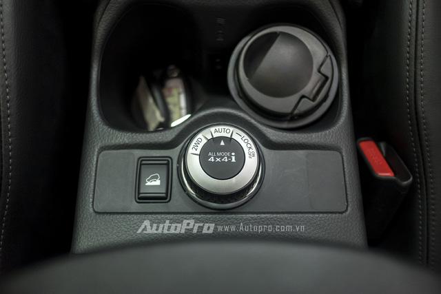 Ở phiên bản cao cấp nhất, Nissan X-trail được trang bị hệ thống dẫn động 4WD cùng núm xoay chuyển cầu điện tử.