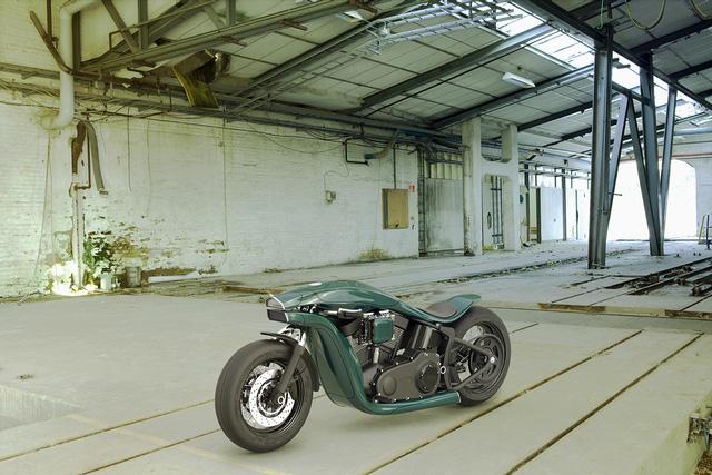 Jever vẫn giữ được yếu tố cồng kềnh trên chiếc Harley-Davidson của tương lai.