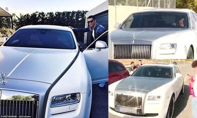 Đến sân tập với một chiếc xe siêu sang Rolls-Royce Ghost.