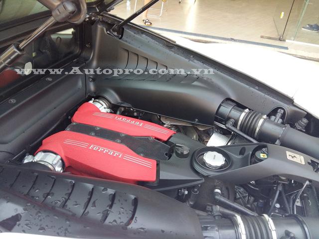 Ferrari 488 GTB sử dụng động cơ V8, tăng áp kép, dung tích 3,9 lít, sản sinh công suất tối đa 661 mã lực tại vòng tua máy 8.000 vòng/phút và mô-men xoắn cực đại 760 Nm tại 3.000 vòng/phút. Kết hợp cùng hộp số ly hợp kép 7 tốc độ, siêu ngựa mất khoảng 3 giây để tăng tốc từ 0-100 km/h trước khi đạt vận tốc tối đa 330 km/h.