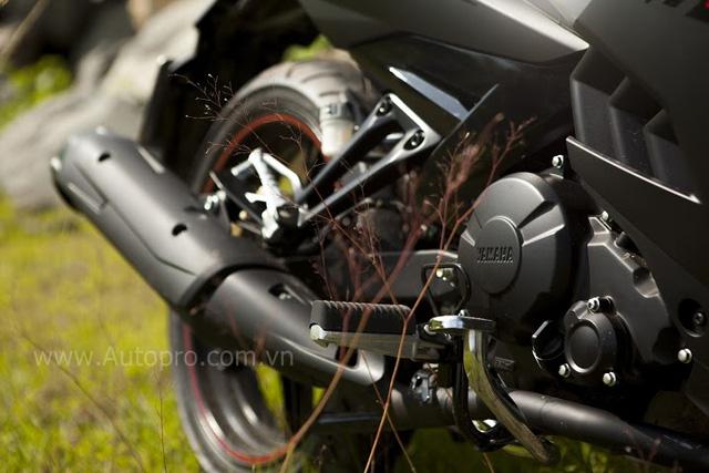 Phiên bản Matte Black vẫn được trang bị khối động cơ 150 phân khối, 4 thì, xy-lanh đơn SOHC, làm mát bằng dung dịch và ứng dụng công nghệ phun xăng điện tử độc quyền của Yamaha.