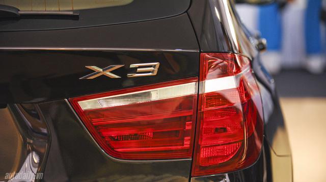 Thiết kế đuôi của BMW X3 diesel