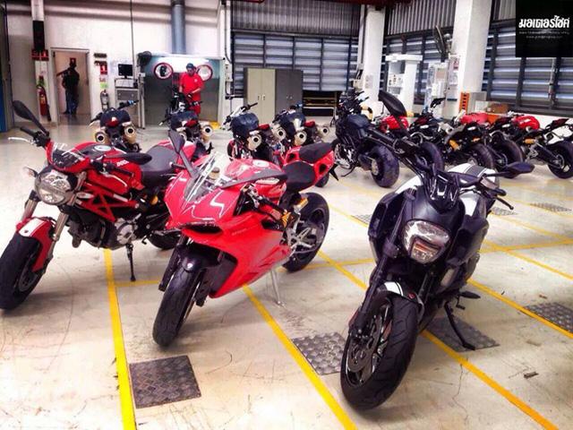 Những chiếc xe Ducati sau khi hoàn thiện.