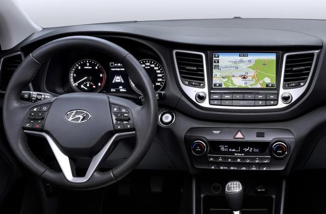 Nội thất của Hyundai Tucson 2016