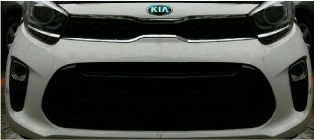 Hình ảnh rò rỉ cho thấy một phần đầu xe của Kia Morning mới với một số điểm giống...