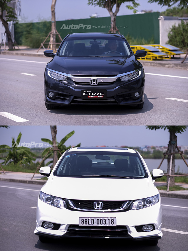 So sánh trực quan Honda Civic 2016 và thế hệ trước đó - Ảnh 4.