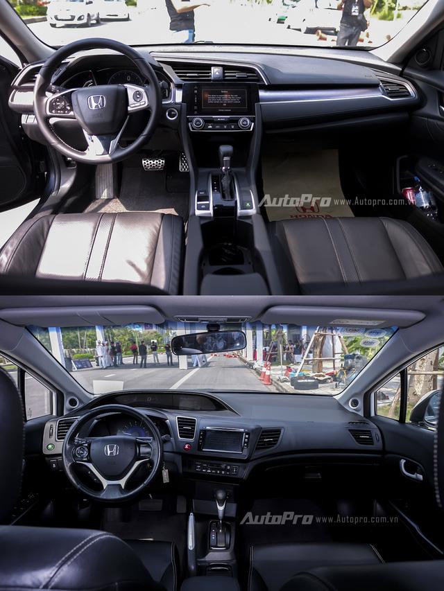 So sánh trực quan Honda Civic 2016 và thế hệ trước đó - Ảnh 5.