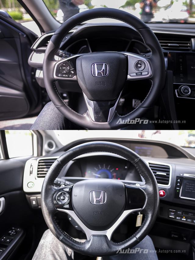 So sánh trực quan Honda Civic 2016 và thế hệ trước đó - Ảnh 6.