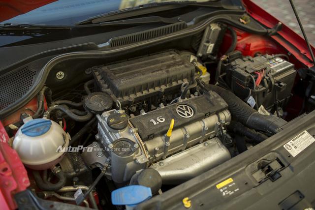Động cơ dung tích 1.6L của Volkswagen Polo.