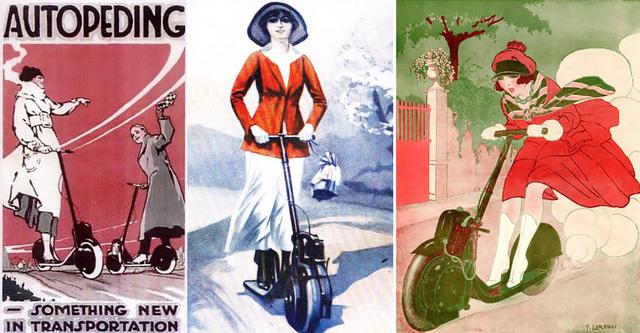 Những poster quảng cáo được vẽ tay của nhà sản xuất dành cho Autoped.