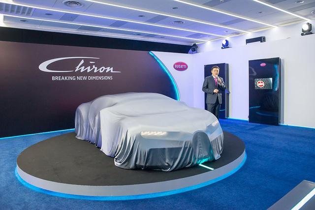Sau khi ra mắt tại hai thị trường lớn là châu Âu và Bắc Mỹ, siêu xe Bugatti Chiron đã chính thức đặt chân đến khu vực Đông Nam Á, cụ thể là quốc đảo Sư tử Singapore, trong một sự kiện ra mắt dành cho khách mời.