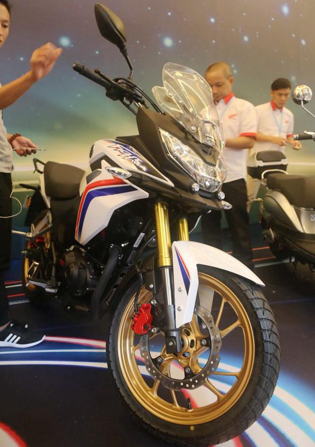 Theo hãng Honda, CBF190X 2017 là mẫu mô tô đa dụng phân khối nhỏ và giá rẻ, dành cho người mới chơi. Chiếc Honda CBF190X 2017 được trưng bày trong triển lãm tại Trung Quốc khoác bộ cánh màu trắng với tem đỏ và xanh. Ngoài ra, trên xe còn xuất hiện một số điểm nhấn màu vàng như phuộc trước và vành đúc.