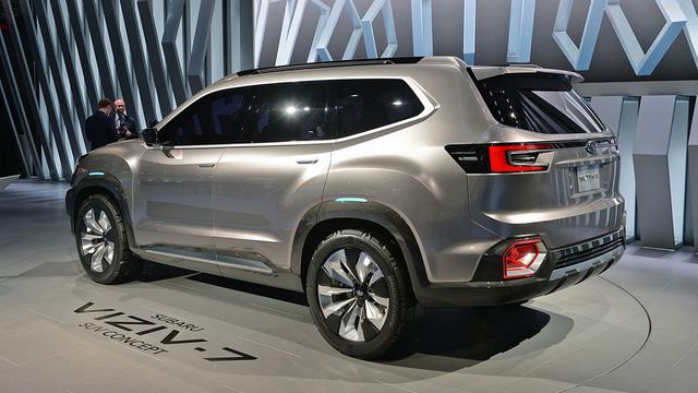 Theo tạp chí Car&Driver, phiên bản sản xuất của Subaru Viziv-7 sẽ có tên Ascent. Trước đó, hãng Subaru đã đăng ký bản quyền thương hiệu cho cái tên này tại thị trường Mỹ.