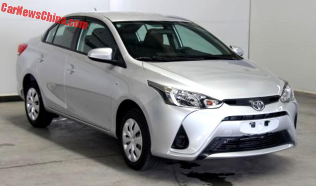 Toyota Yaris L 2017 có đầu xe khá giống...