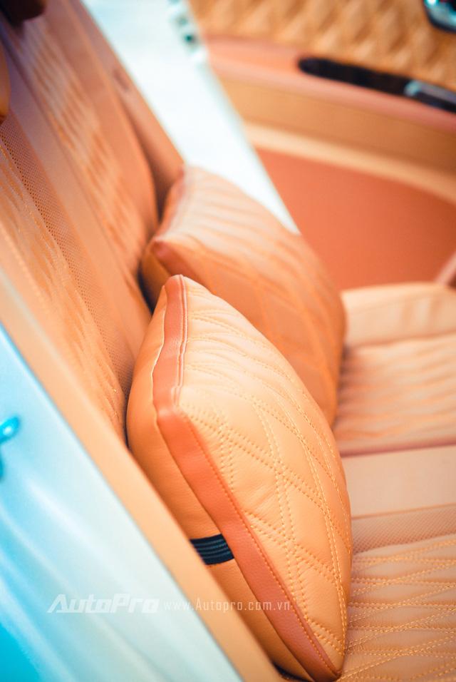 ' Gối da đồng bộ được thửa riêng cho không gian nội thất mới của chiếc Kia Morning. '