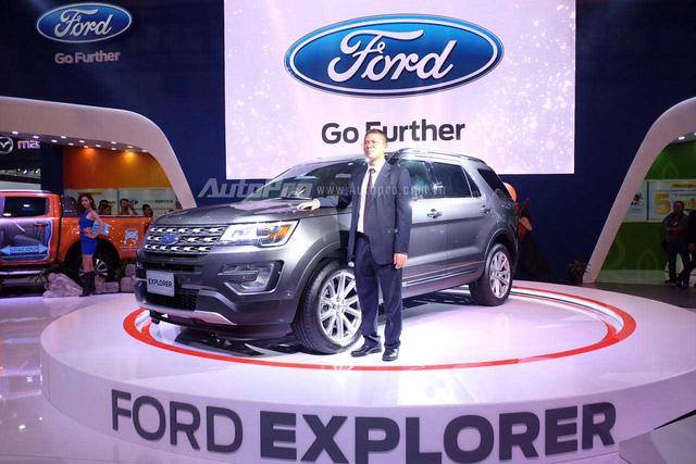 Ford Explorer là mẫu xe được trông chờ nhất gian hàng Ford.