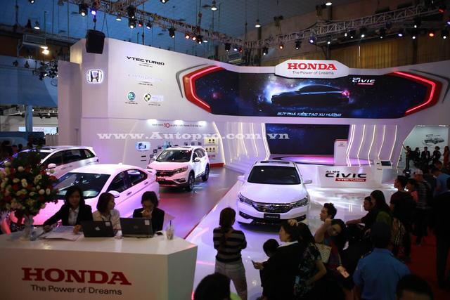 Toàn cảnh gian hàng Honda Việt Nam tại triển lãm VMS 2016.