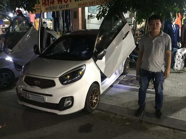 ' Chiếc Kia Morning đầu tiên tại Thanh Hóa lên cửa cắt kéo Lamborghini. '