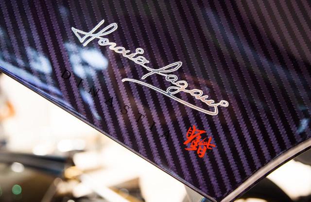 Về thiết kế, Pagani Huayra Dinastia có biểu tượng rồng xuất hiện trên thân xe và chạy dài từ bánh trước ra đến phía sau, trong đó đầu rồng nằm ngay chắn bùn bánh trước. Bên trong nội thất hình rồng uy nghi lại xuất hiện trên trần xe. Ngoài ra, so với phiên bản thần gió Huayra tiêu chuẩn, phiên bản rồng có nhiều khác biệt như cánh gió cỡ lớn phía trước cùng chiếc vây đặc biệt trên đuôi xe với lá cờ Ý.