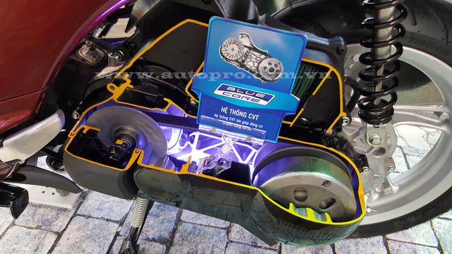 Xe trang bị động cơ công nghệ Blue Core 125cc mới nhất của Yamaha.