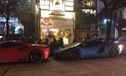 Lamborghini Aventador màu độc dạo phố đêm cùng Ferrari 488 GTB tại Sài Gòn