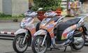 Hai chiếc Honda SH300i độ đồ chơi đón Tết ở Sài Gòn